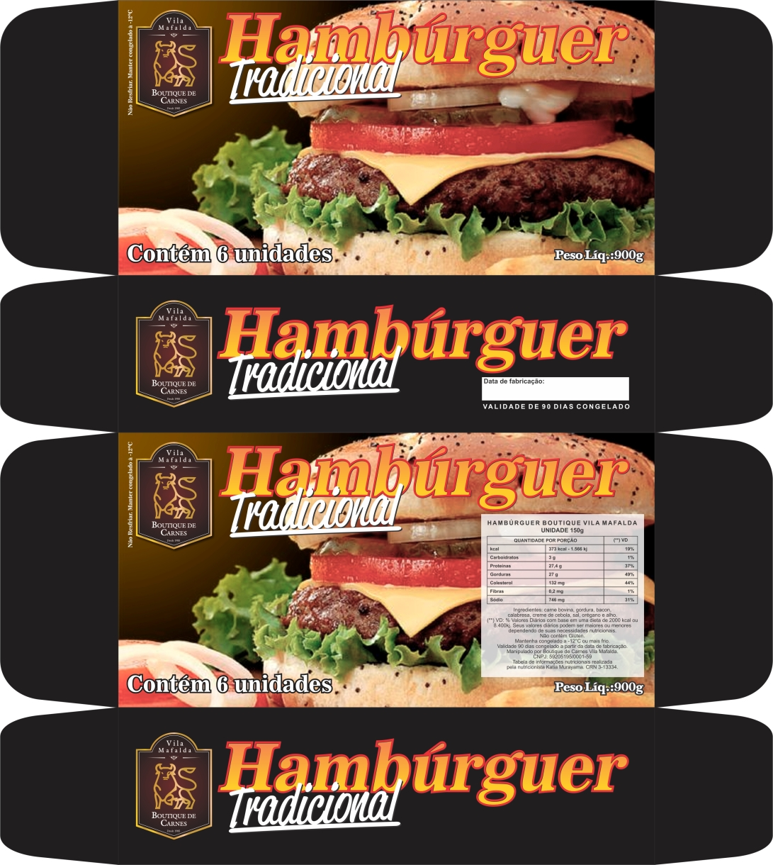caixa hamburguer tradicional